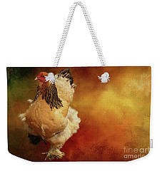 Cochin Chicken Weekender Tote Bag by Eva Lechner