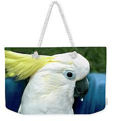 Cockatoo Bird Weekender Tote Bag by Haleh Mahbod