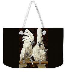 Cockatoo Conversation Weekender Tote Bag