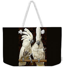 Cockatoo Conversation Weekender Tote Bag