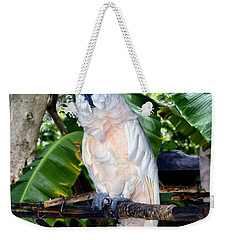 Cockatoo On Perch Weekender Tote Bag