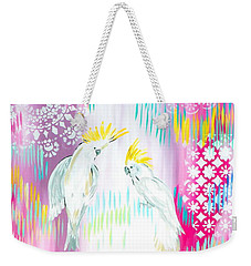 Cockatoos Weekender Tote Bag by Cathy Jacobs
