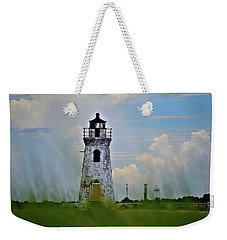 Cockspur Lighthouse Through The Grass Weekender Tote Bag by Tara Potts