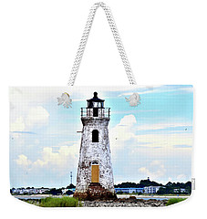 Cockspur Lighthouse Vertical Weekender Tote Bag by Tara Potts