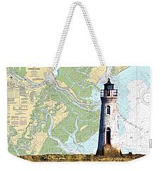 Cockspur On Navigation Chart Weekender Tote Bag