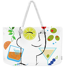 Cocktail Time Weekender Tote Bag by Lisa Henderling