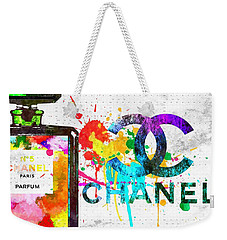 Coco Chanel No. 5 Grunge Weekender Tote Bag