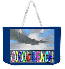 Weekender Tote Bag featuring the digital art Cocoa Beach Poster T-shirt by Dick Sauer