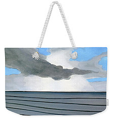 Weekender Tote Bag featuring the painting Cocoa Beach Sunrise 2016 by Dick Sauer