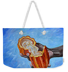 Cocoa Pod In Hand V2 Weekender Tote Bag