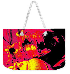 Cocoa Thinking About Her Bone Weekender Tote Bag