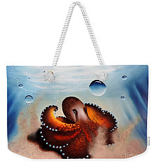 Coconut Octopus Weekender Tote Bag by Dianna Lewis