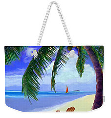 Coconut Palm Weekender Tote Bag by David  Van Hulst