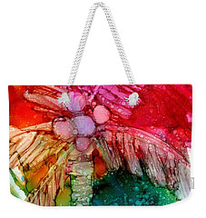 Weekender Tote Bag featuring the painting Coconut Palm Tree by Marionette Taboniar