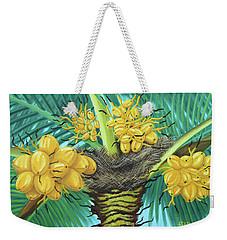 Coconut Palms Weekender Tote Bag by Val Miller