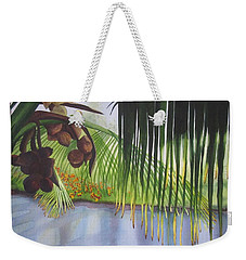 Weekender Tote Bag featuring the painting Coconut Tree by Teresa Beyer
