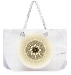 Weekender Tote Bag featuring the digital art Coffe Foam Mandala by Klara Acel