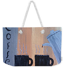 Coffee Art Weekender Tote Bag