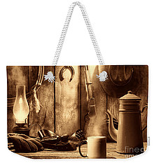 Coffee At The Cabin Weekender Tote Bag by American West Legend By Olivier Le Queinec