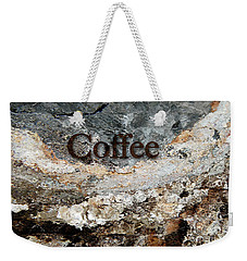 Coffee Edit 2 Brown Letters Weekender Tote Bag