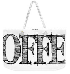 Coffee Fill Line Mug 2 Weekender Tote Bag
