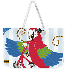 Coffee Parrot Weekender Tote Bag