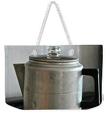 Weekender Tote Bag featuring the photograph Coffee Pot by Ann E Robson