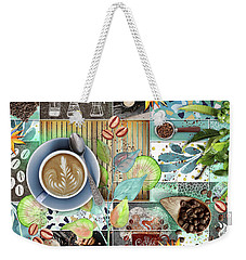 Coffee Shop Collage Weekender Tote Bag