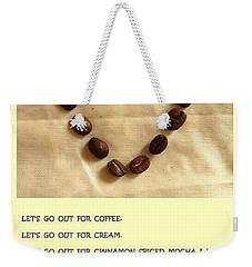 Coffee Shop Hopping Weekender Tote Bag