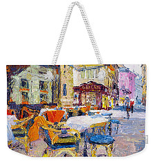 Coffee Shop In Downtown Weekender Tote Bag
