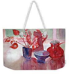 Coffee Time Weekender Tote Bag by Jasna Dragun