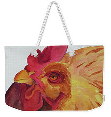 Weekender Tote Bag featuring the painting Cogburn by Judy Mercer