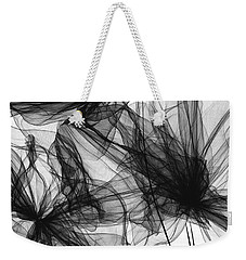 Coherence - Black And White Modern Art Weekender Tote Bag