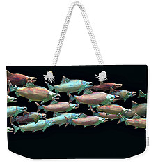 Weekender Tote Bag featuring the photograph Coho Migration by Jeff Burgess