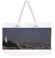 Coit Tower And Bay Bridge Weekender Tote Bag