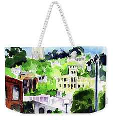 Coit Tower From The Embarcadero Weekender Tote Bag by Tom Simmons