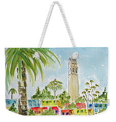 Weekender Tote Bag featuring the painting Coit Tower by Pat Katz