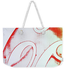 Weekender Tote Bag featuring the photograph Coke 2 by Laurie Stewart