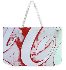 Weekender Tote Bag featuring the photograph Coke 3 by Laurie Stewart