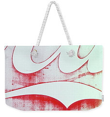 Weekender Tote Bag featuring the photograph Coke 4 by Laurie Stewart