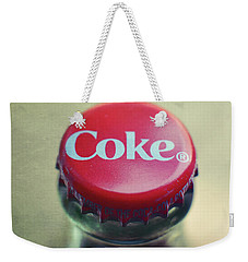 Coke Bottle Cap Square Weekender Tote Bag by Terry DeLuco