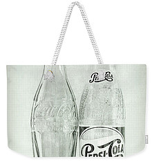 Coke Or Pepsi Black And White Weekender Tote Bag by Terry DeLuco