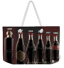 Coke Through Time Weekender Tote Bag by George Pedro