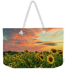 Colby Farm Sunflowers Weekender Tote Bag