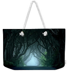 Cold And Blue Morning At Dark Hedges Weekender Tote Bag