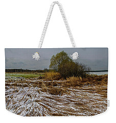 Weekender Tote Bag featuring the photograph Cold Autumn Evening by Vladimir Kholostykh
