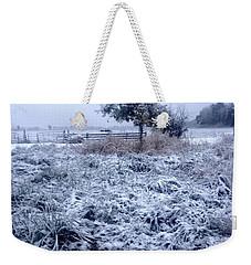 Cold Blue Weekender Tote Bag