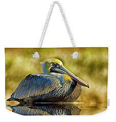 Cold Brown Pelican Weekender Tote Bag