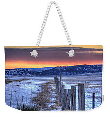 Cold Country Sunrise Weekender Tote Bag