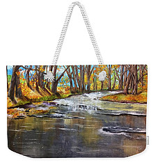 Cold Day At The Creek Weekender Tote Bag by Annamarie Sidella-Felts
